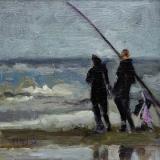 Kunstkaart Greeting of Katwijk aan Zee 2017005 werk Mariska de Kok 15x15 cm