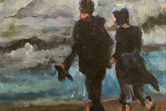 Kunstkaart Greeting of Katwijk aan Zee 2017011 werk Mariska de Kok 15x15 cm