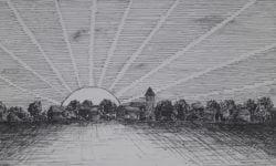 werk Leo Noordoven inkt op papier