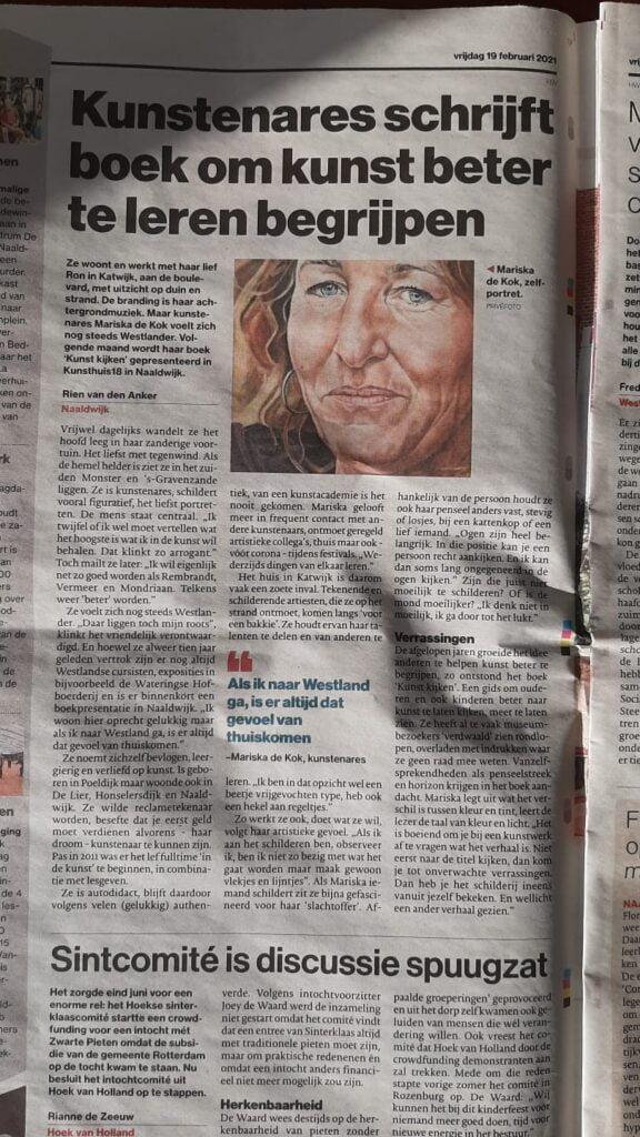 Krantenartikel AD over mijn boek