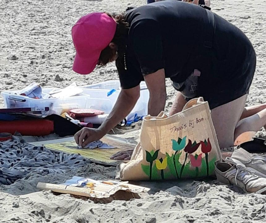 Verslag Masterclass Schilderen aan Zee in beeld